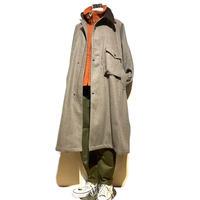 """H.UNIT """"melton gascape coat"""" (beige)unisex"""
