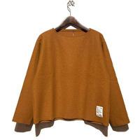 "H.UNIT ""boiled wool cut off basque shirts"" (orange) unisex"