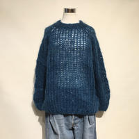 "MAIAMI""mohair basic sweater""(petrol)women's"