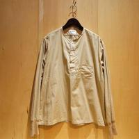 "H.UNIT ""broad cloth sleeping rib shirts"" (beige) unisex"