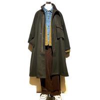 "H.UNIT ""melton gascape coat""(khaki)unisex"