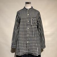 """TigreBrocante """"stand collar long shirts""""(indigo check)women's"""