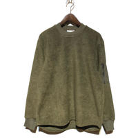 """FLISTFIA""""army zip pullover""""(olive) unisex"""