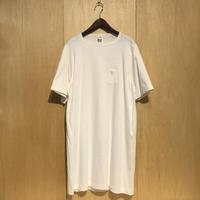 """HUE 3pocket T-shirts """"long length""""(white) unisex"""