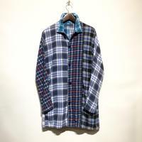 """TigreBrocante""""mix flannel check stallman coat""""(fade)unisex"""