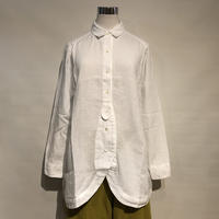 "TigreBrocante""60 linen leaf long shirts""(white)womens"