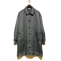 "amne ""herringbone harrington coat"" (gray) unisex"
