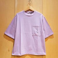 "amne ""solid pocket H/S tee"" (lavender) unisex"