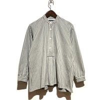 "TigreBrocante ""big mac stripe moc tunic""(light gray) women's"