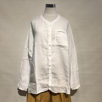 "TigreBrocante""60 linen stallman shirts ""(white)unisex"