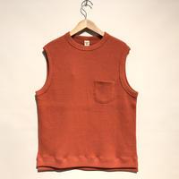 "Jackman""cotton waffle vest""(suset orange) unisex"