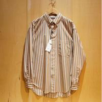 """amne """"stripe BD L/S shirts"""" (beige) unisex"""