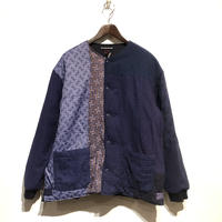 "TigreBrocante""lotus batting short rib jacket""(lt.navy)unisex(M)size"