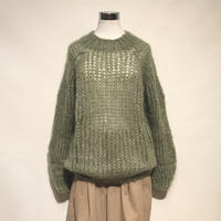 """MAIAMI""""mohair basic sweater""""(olive)women's"""