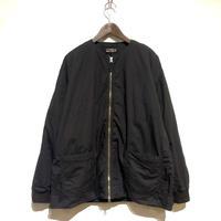"TigreBrocante""cotton rip crewneck zip jacket""(black)unisex"