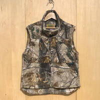 """DAY ONE CAMOUFULAGE""""fleece vest""""low collar(real tree camo)"""