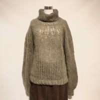 "MAIAMI""mohair sweater w.blousy sleeve""(brown)women's"