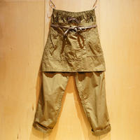 "H.UNIT ""weather cloth apron easy pants""(beige)unisex"