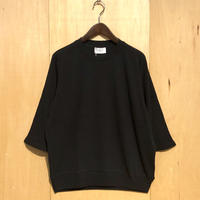 "FLISTFIA""3/4 sleeve sweater""(mad black) unisex"