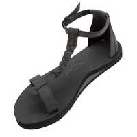 "RAINBOW SANDALS ""the kalafia ankle strap""(black)women's"