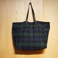 "Kate Sheridan ""GIGA TOTE""(blackwatch) waxed cotton"