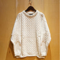 "TigreBrocante""patchwork cotton sweater""(natural) unisex"