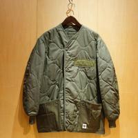 """DEAD STOCK REMAKE""""nomex liner jacket with pocket""""(olive)A"""