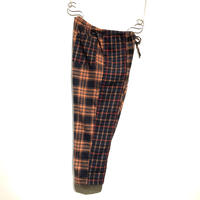 "TigreBrocante""mix flannel check tagosaku pants""(orange)unisex"