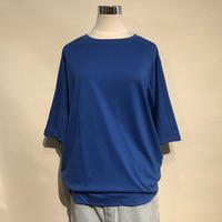 "SlowHands ""cotton relax tee""(blue) womens"