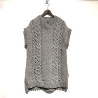 "TigreBrocante""Lady's long vest""(gray) women's"