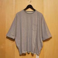 "ASEEDONCLOUD""reversible big t-shirts"" (gray×mint) unisex"