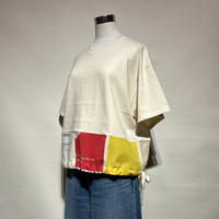 """yoused """"ribbon eco tee""""(beige)women's(A)"""
