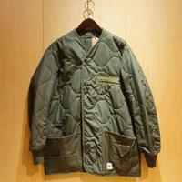 """DEAD STOCK REMAKE""""nomex liner jacket with pocket""""(olive)B"""