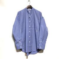 """amne """"stripe BC L/S shirts"""" (blue×white) unisex"""