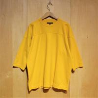"TigreBrocante""SZラフィ天竺フットボールT""(yellow)unisex"