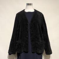 "TigreBrocante""slant corduroy v-neck L/S jacket""(black)women's"
