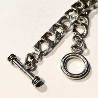 """TAXCO VINTAGE """"sterling silver square link bracelet""""unisex"""