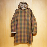 "Kate Sheridan""Batwing Coat Waxed Cotton""(tartan check wax×beige) women's"