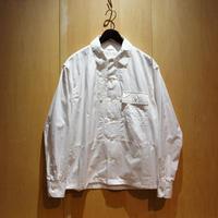 "H.UNIT ""broad cloth triple pocket L/S shirts"" (white) unisex"