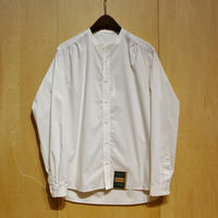 "ASEEDONCLOUD""Handwerker collarless  shirts"" (off white stretch) unisex"