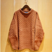 "TigreBrocante""patchwork cotton sweater""(brown) unisex"