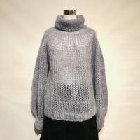 "MAIAMI""mohair sweater w.blousy sleeve""(greyish blue)women's"