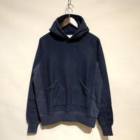 "FLISTFIA""vintage washed hooded""(navy blue) unisex"