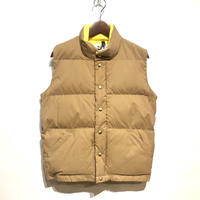 "Crescent Down Works ""italian down vest 60/40 cloth""(tan×yellow) unisex"