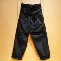 """H.UNIT """"weather cloth apron easy pants""""(black)unisex"""