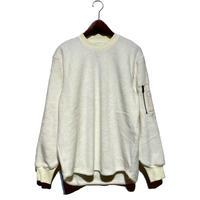 """FLISTFIA""""army zip pullover""""(white) unisex"""