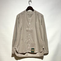 "ASEEDONCLOUD""Handwerker collarless shirts"" (graysh beige) unisex"