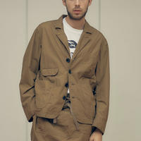 """H.UNIT """"weather cloth coverall"""" (beige) unisex"""