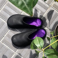 "SANDALMAN ""slipper"" (bull hide black&purple) men's"