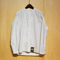 "ASEEDONCLOUD""Handwerker collarless  shirts"" (off white stripe) unisex"